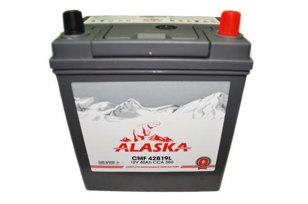 Аккумуляторная батарея ALASKA CMF 187 / 127 / 220, 40А / ч, ССА 380А, Обр. 42B19L silver+ 8808240010399 купить в Абакане