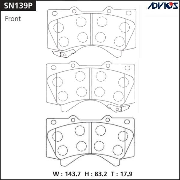 Дисковые тормозные колодки ADVICS SN139P SN139P купить в Абакане