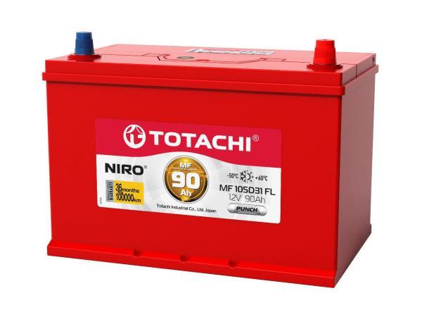 Аккумулятор TOTACHI NIRO MF 105D31, 90а / ч FL, PUNCH 4589904928611 купить в Абакане