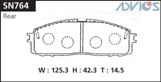 Дисковые тормозные колодки ADVICS SN764 SN764 купить в Абакане
