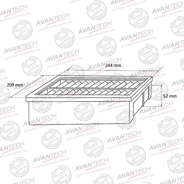 Фильтр воздушный Avantech-AF0108 AF0108 купить в Абакане