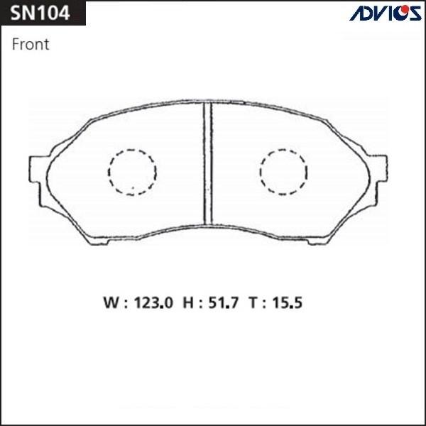 Дисковые тормозные колодки ADVICS SN104 SN104 купить в Абакане
