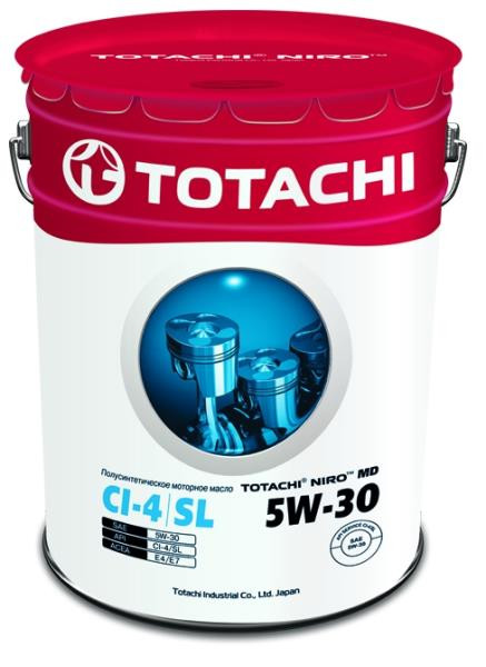 Моторное масло Масло моторное TOTACHI NIRO MD Semi-Synthetic CI-4 / SL 5W-30 16.5 кг / 19, 34л 4589904921643 купить в Барнауле