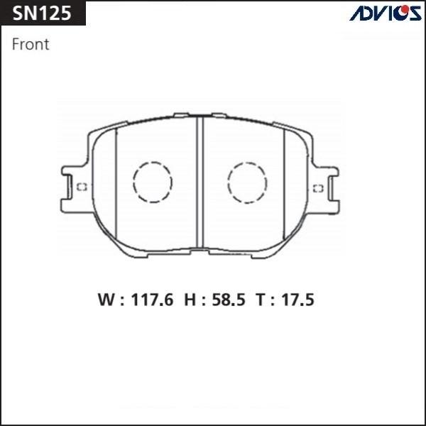 Дисковые тормозные колодки ADVICS SN125 SN125 купить в Абакане