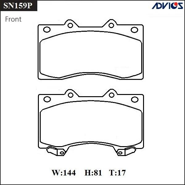 Дисковые тормозные колодки ADVICS SN159P SN159P купить в Абакане