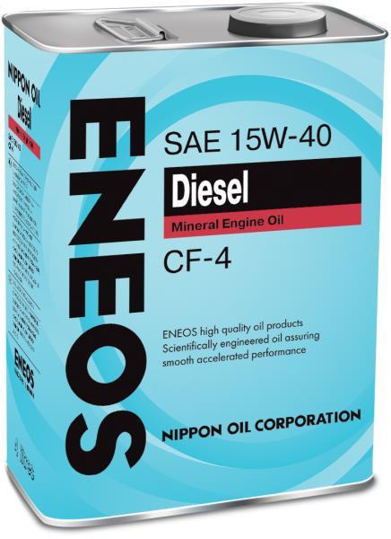 Моторное масло Масло моторное ENEOS Diesel CF-4 Минерал 15W40 4л 01000034 купить в Абакане