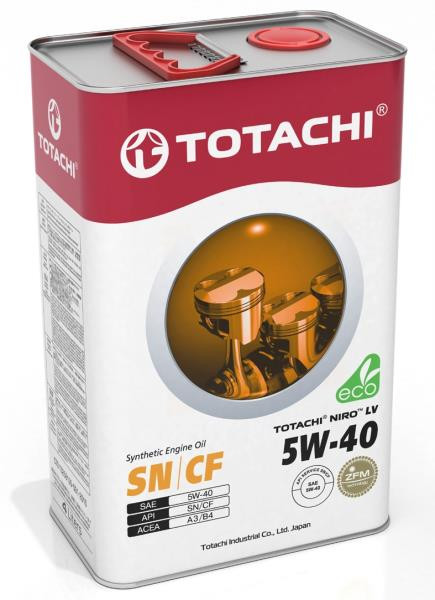 Моторное масло Масло моторное TOTACHI NIRO LV Synthetic SN / CF 5W-40 4л 4589904523540 купить в Абакане