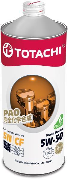 Моторное масло Масло моторное TOTACHI Grand Racing Fully Synthetic SN / CF Синтетика 5W50 1л 4562374690691 купить в Абакане